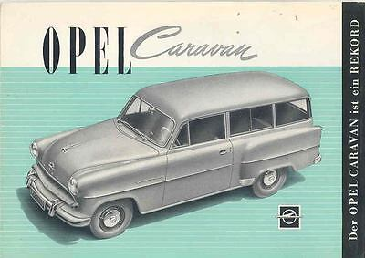 1955 Opel Caravan Sales Brochure German mw8022-1J8TUK