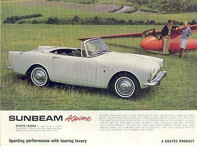 1964 Sunbeam Alpine 1600 Sales Brochure mw8126-QNF4M7