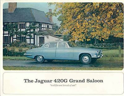 1967 Jaguar 420G Grand Saloon Sales Brochure mw8527-2AEJJZ