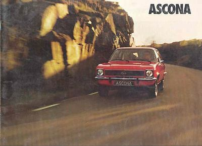 1974 Opel Ascona & Wagon SR Sales Brochure German mw8637-TH6YAU