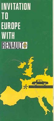 1967 Renault European Delivery Brochure 10 16 Caravelle mw8690-GA39IC