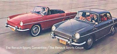 1964 Renault Caravelle Coupe Convertible Brochure mw8693-I3GXD5