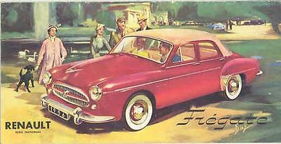 1956 Renault Sales Brochure Fregate Amiral Domaine mw8764-LAEBA9