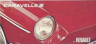 1963 Renault Caravelle S Coupe Convertible Brochure mw8766-VH2DY7