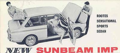 1964 Sunbeam Imp Sales Brochure mw8891-T7YU4B