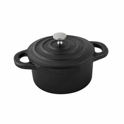 Mini Casserole Dish, Round with Lid, Cast Iron, MODA Oven to Table, 100mm