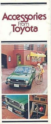 1975 Toyota Accessories Sales Brochure mw8902-VOV1RJ