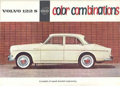 1961 Volvo 122S Paint Color & Upholstery Sales Brochure mw8999-IO4G5J