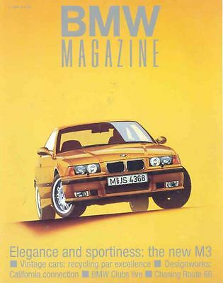 1994 1st Issue BMW M3 Factory Magazine Brochure mw9632-LZY1W8