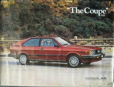 1981 Audi GT Coupe Showroom Poster mw9800-B4TNK7