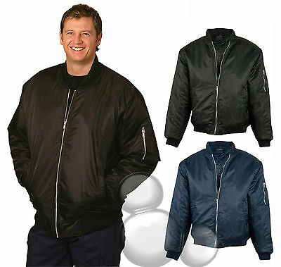 Mens Bomber Jacket  Size S M L XL 2XL 3XL 4XL 5XL 7X Coat  Security Flying