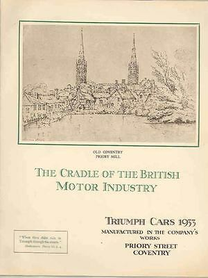 1933 Triumph Super 8 Super 9 12/6 Southern Cross Prestige Brochure wr6028-GB4LEE