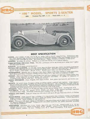 1949 HRG Brochure & Price Interior LIst  wr7537-ENGOE5