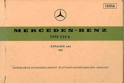 1959 Mercedes Type 220b Illustrated Parts Book fo1030-Z7KKN2