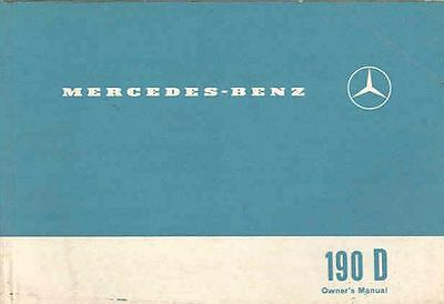 1961 Mercedes Type 190Dc Owner's Manual fo1049-S5GAE4