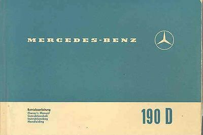 1965 Mercedes Type 190Dc Owner's Manual fo1079-76R22E
