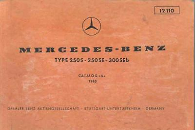 1965 Mercedes Type 250 300 Illustrated Parts Book fo1087-Y12GZP