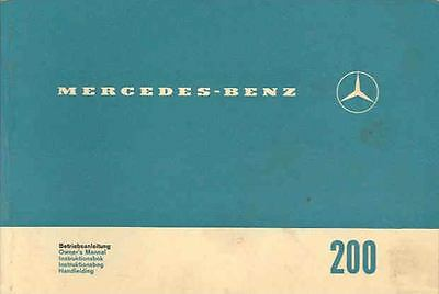 1966 Mercedes Type 200 Owner's Manual fo1088-N55HHH