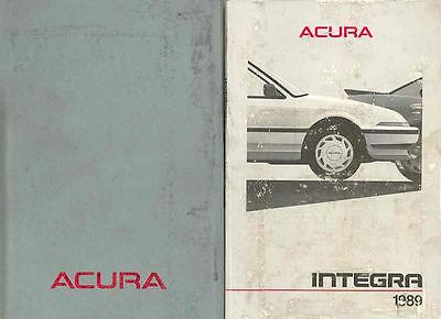 1989 Acura Integra Owner's Manual and Pouch fo11-9KG152