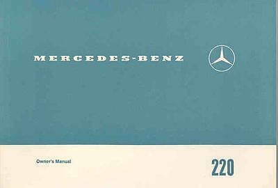 1969 Mercedes Type 220 Owner's Manual fo1116-I9DXFG