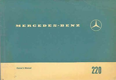 1970 Mercedes Type 220 Owner's Manual fo1125-PZBP9O