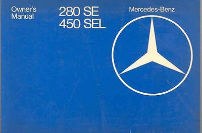 1979 Mercedes Type 280SE 450SEL Owner's Manual fo1182-XM4SAL
