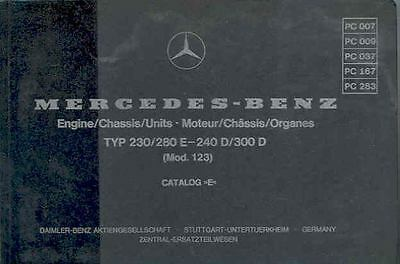 1979 Mercedes Type 230 240D 300D Illustrated Parts Book fo1188-U1JUWM
