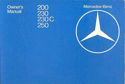 1980 Mercedes Type 200 230 250 Owner's Manual fo1191-ZDVKYU