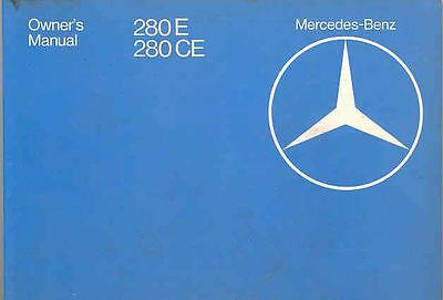 1981 Mercedes Type 280E 280CE Owner's Manual fo1198-QP99NQ