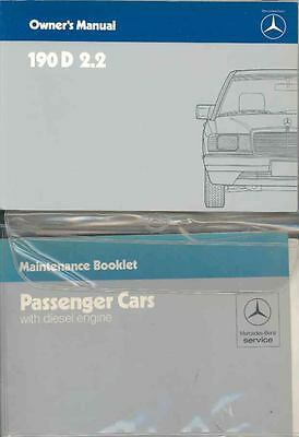 1985 Mercedes Type 190D 2 2 Owner's Manual and Pouch fo1233-3LVBWR