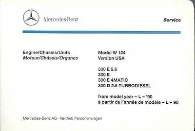 1990 Mercedes Type 300E 300D Illustrated Parts Book fo1263-Z5HNX3