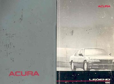 1990 Acura Legend Owner's Manual and Pouch fo13-L5PTTE
