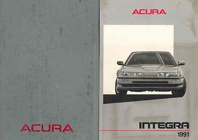 1991 Acura Integra 3-Door Owner's Manual and Pouch fo15-TSGGZ2
