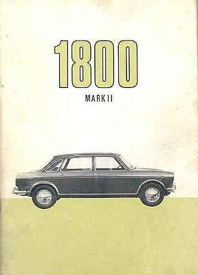 1969 Austin 1800 Mark II Owner's Manual Danish fo153-JFFO4A