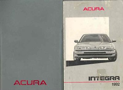 1992 Acura Integra 3-Door Owner's Manual and Pouch fo17-3HFQ9P