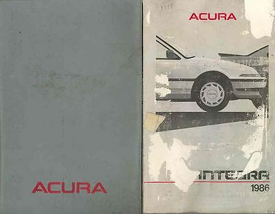 1986 Acura Integra Owner's Manual and Pouch fo2-4DIR14