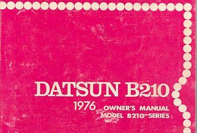 1976 Datsun B210 Owner's Manual fo282-GXDTAE