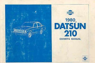 1980 Datsun 210 Owner's Manual fo304-A7NLYL