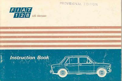 1971 Fiat 128 Owner's Manual fo377-99UDTF