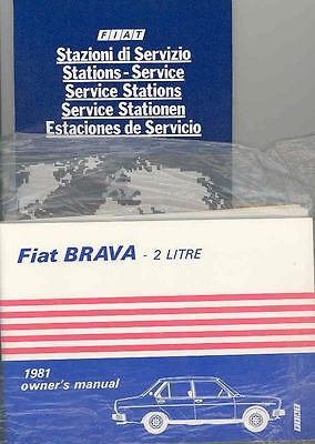 1981 Fiat Brava 2 Litre Owner's Manual and Sleeve fo415-M6VJYG