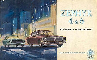 1963 Ford of England Zephyr 4 and 6 Owner's Manual fo441-9327WF