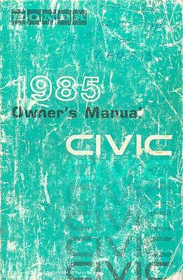 1985 Honda Civic Owner's Manual fo520-NFO1A1