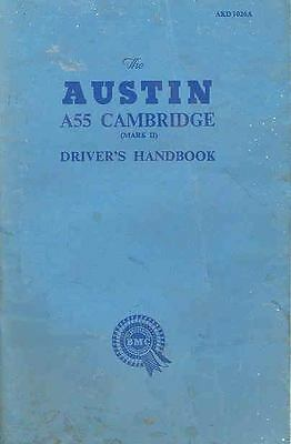1959 Austin A55 Cambridge 2nd Edition Owner's Manual fo578-XXDKNS