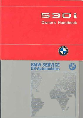 1975 BMW 530i Owner's Manual with 3 booklets fo587-OMCXL7