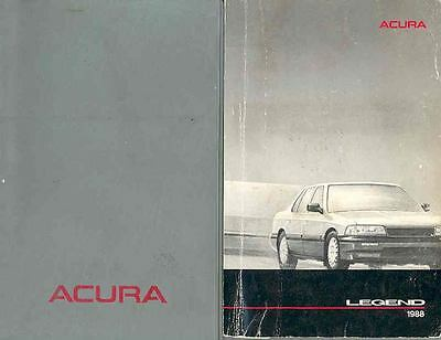 1988 Acura Legend Owner's Manual and Pouch fo6-ZD6UZH