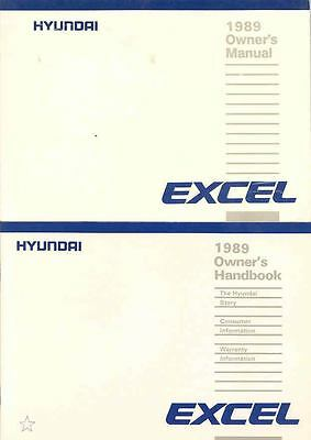 1989 Hyundai Excel Owner's Manual and Pouch fo668-EHVPCV