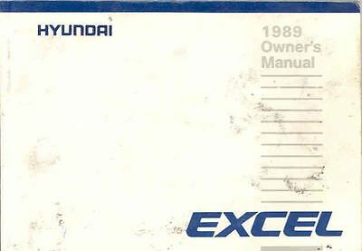 1989 Hyundai Excel Owner's Manual fo667-PI6CTP