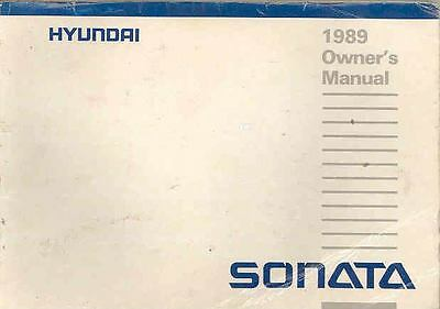 1989 Hyundai Sonata Owner's Manual fo669-UOMC4K