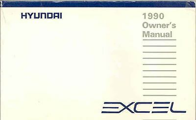 1990 Hyundai Excel Owner's Manual fo671-JT93T6