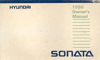 1990 Hyundai Sonata Owner's Manual fo674-CGDH8B